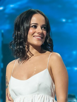 French singer Alizée at Les Enfoirés 2013, in Paris.